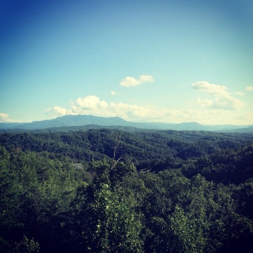 View from our cabin in Pigeon Forge!