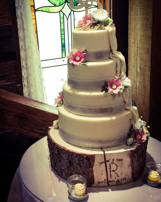 Cake by Chef Wes Kinchen, aka my nephew.